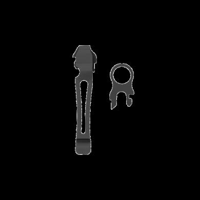 Lanyard Ring & Pocket Clip Kit. Black