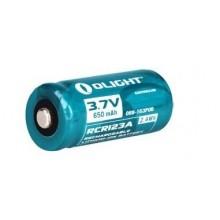 1 x RCR123A Genopladeligt batteri