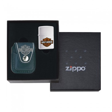 Harley Davidson Lighter Pouch Gift Set